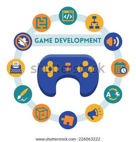 game development related vector