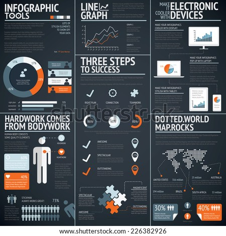 black infographics business
