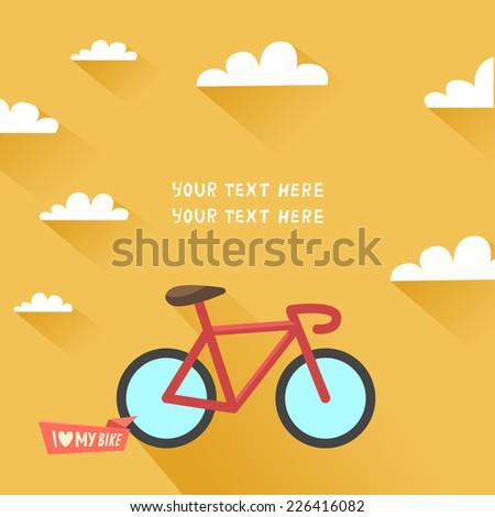 vintage bike in flat design and