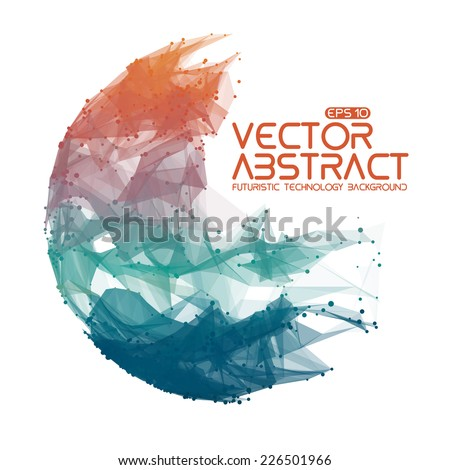 abstract vector mesh sphere