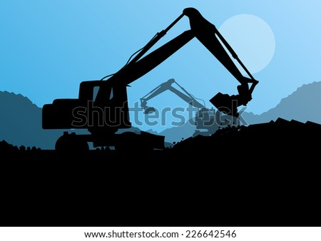 excavator digger in action