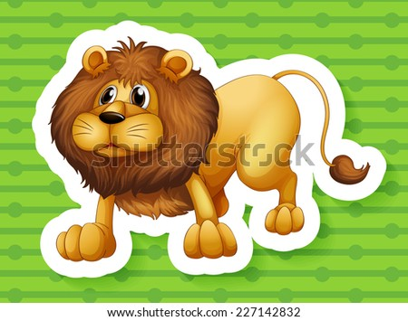 illustration of a close up lion