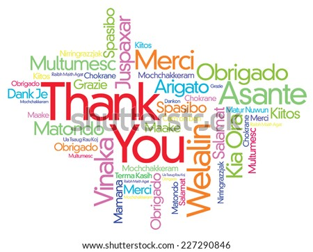 colorful thank you word cloud