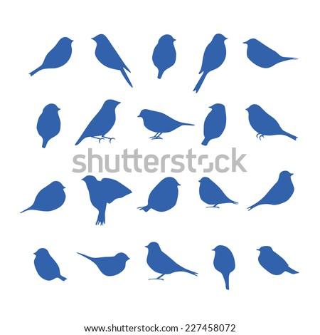 vector set of bird silhouettes