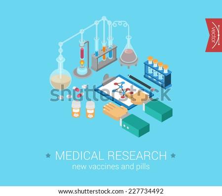 medical research flat 3d