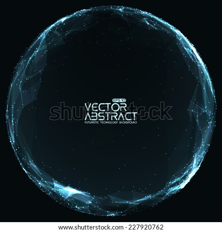 abstract vector mesh spheres