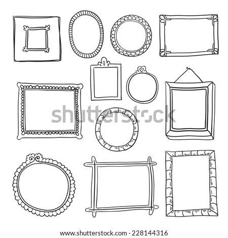 Hand Drawn Colored Frame Vector Free Vector In Encapsulated