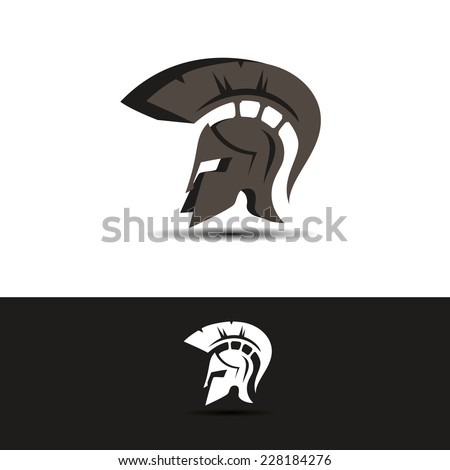 abstract vector greek helmet