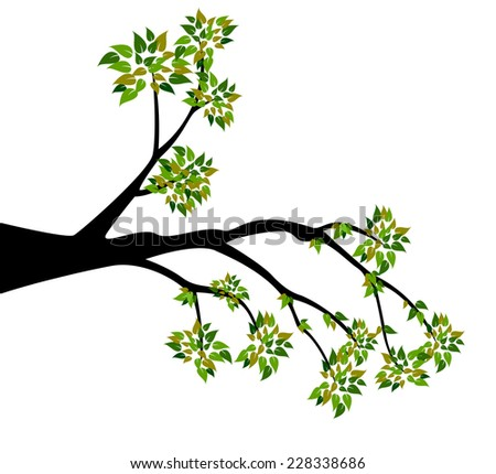 decorative spring branch tree