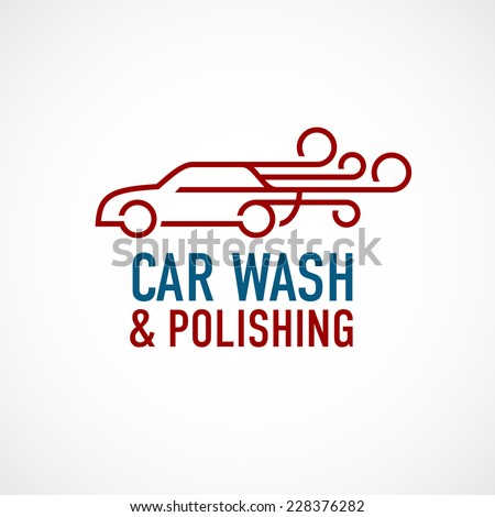 car wash and polishing logo