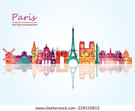 paris vector illustration