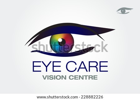 eye vision vector icon design