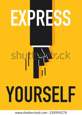 word express yourself vector