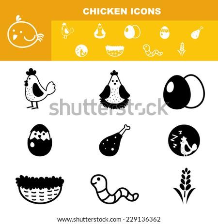 illustration of chicken icon