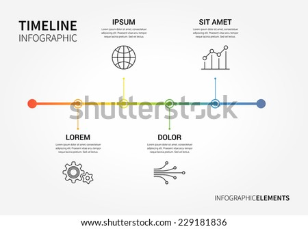 vector timeline infographic and