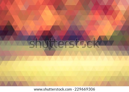 autum abstract landscape