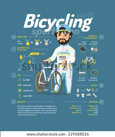 cycling vector illustration