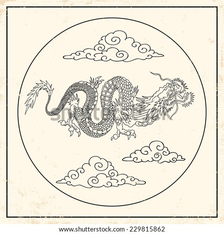 illustration of a black dragon