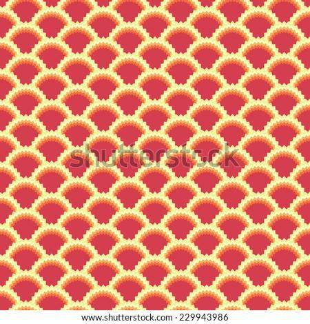 flower pattern japan wave style