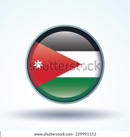 flag of jordan  vector