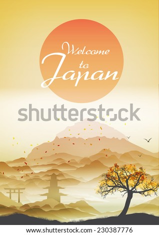 japanese vintage background