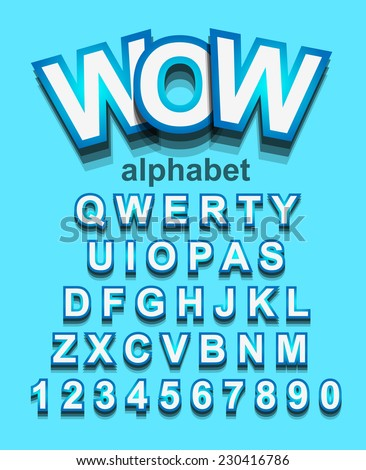 funny colorful alphapet font to