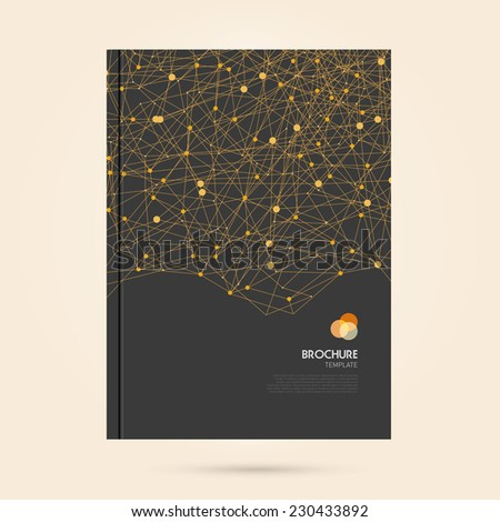 vector abstract brochure with