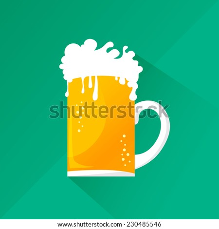 illustration of a cold beer