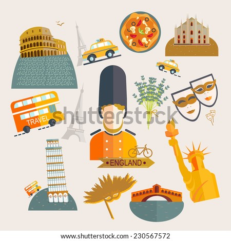 travel europe illustrations