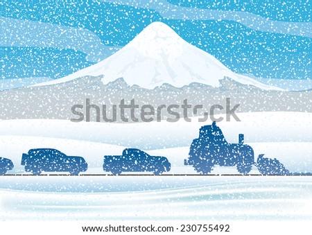vector illustration winter
