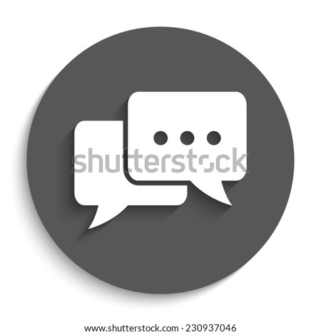 chat   vector icon with shadow