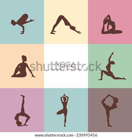 vector illustration of yoga