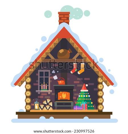 house of santa claus interior