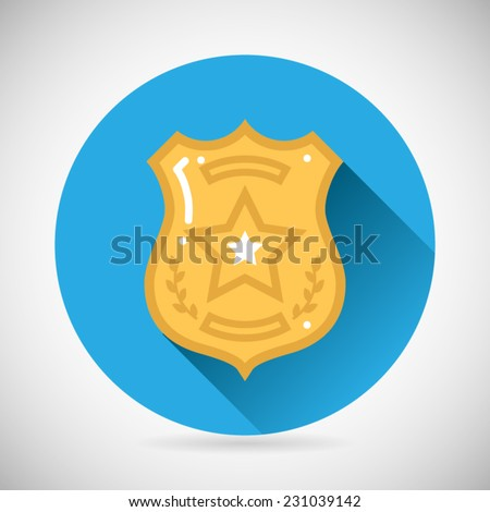 police officer bage icon