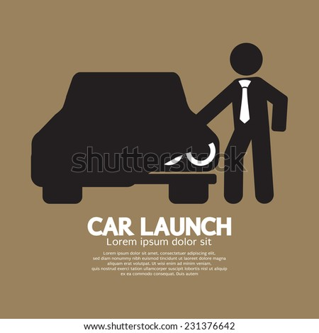 new car launch graphic symbol