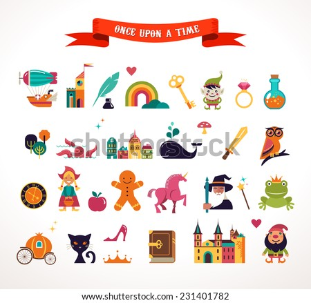 collection of vector fairy tale