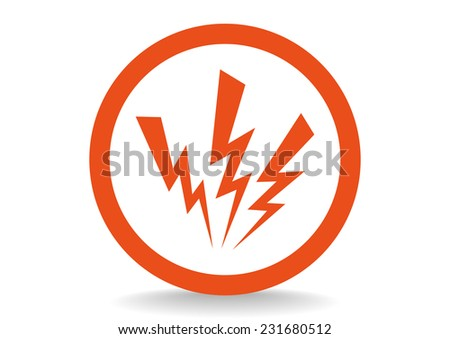high voltage  web icon vector