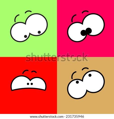 vector color flat cartoon comic
