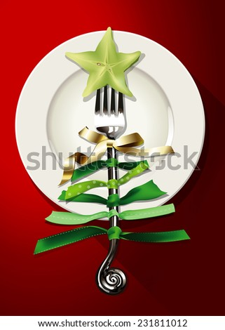 vector of christmas food