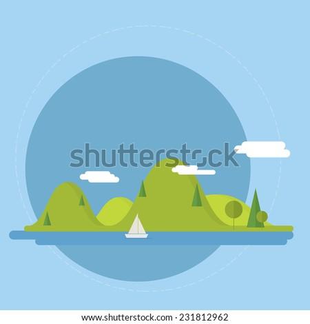 flat nature landscape