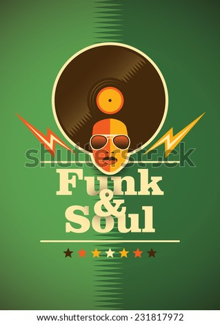 funk and soul poster vector