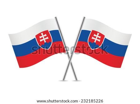 slovakia flags vector