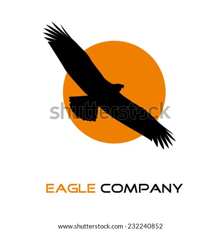 vector sign black eagle in the