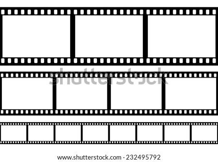 set of film frame  vector