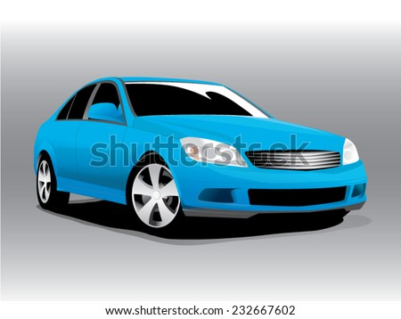 vector illustration car blue
