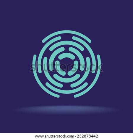 abstract circle segments sign