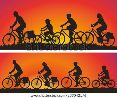 family on the bike trip