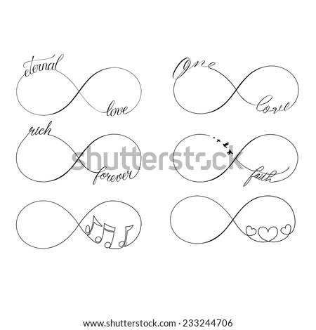 popular infinity symbols tattoo