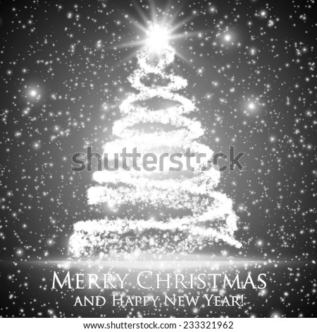 shining christmas tree on