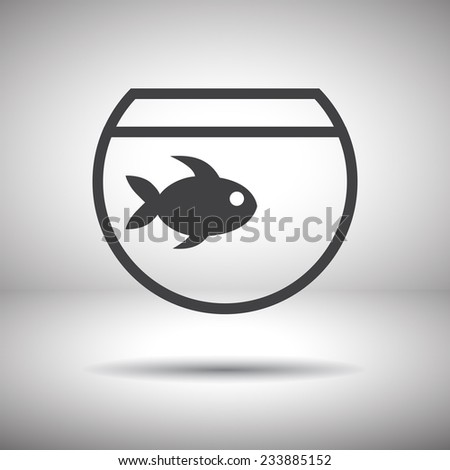 fish and aquarium icon vector